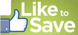 Like our page to save