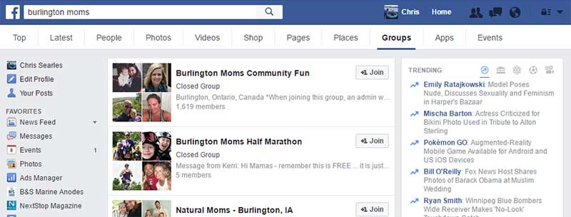 Burlington Moms Facebook Groups Search