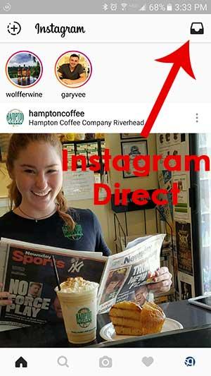Instagram Direct screenshot