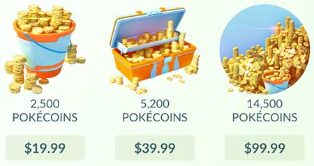 Pokecoin pricing