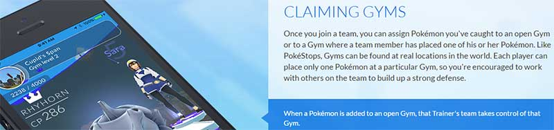 Pokemon Go Gyms explanation