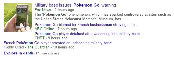 Negative Pokemon Go headlines