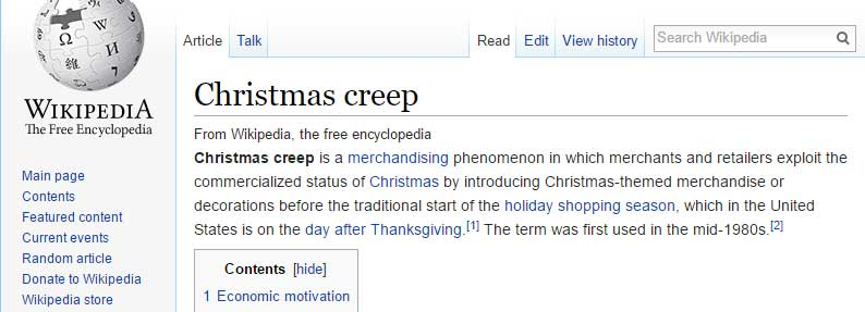 Christmas Creep