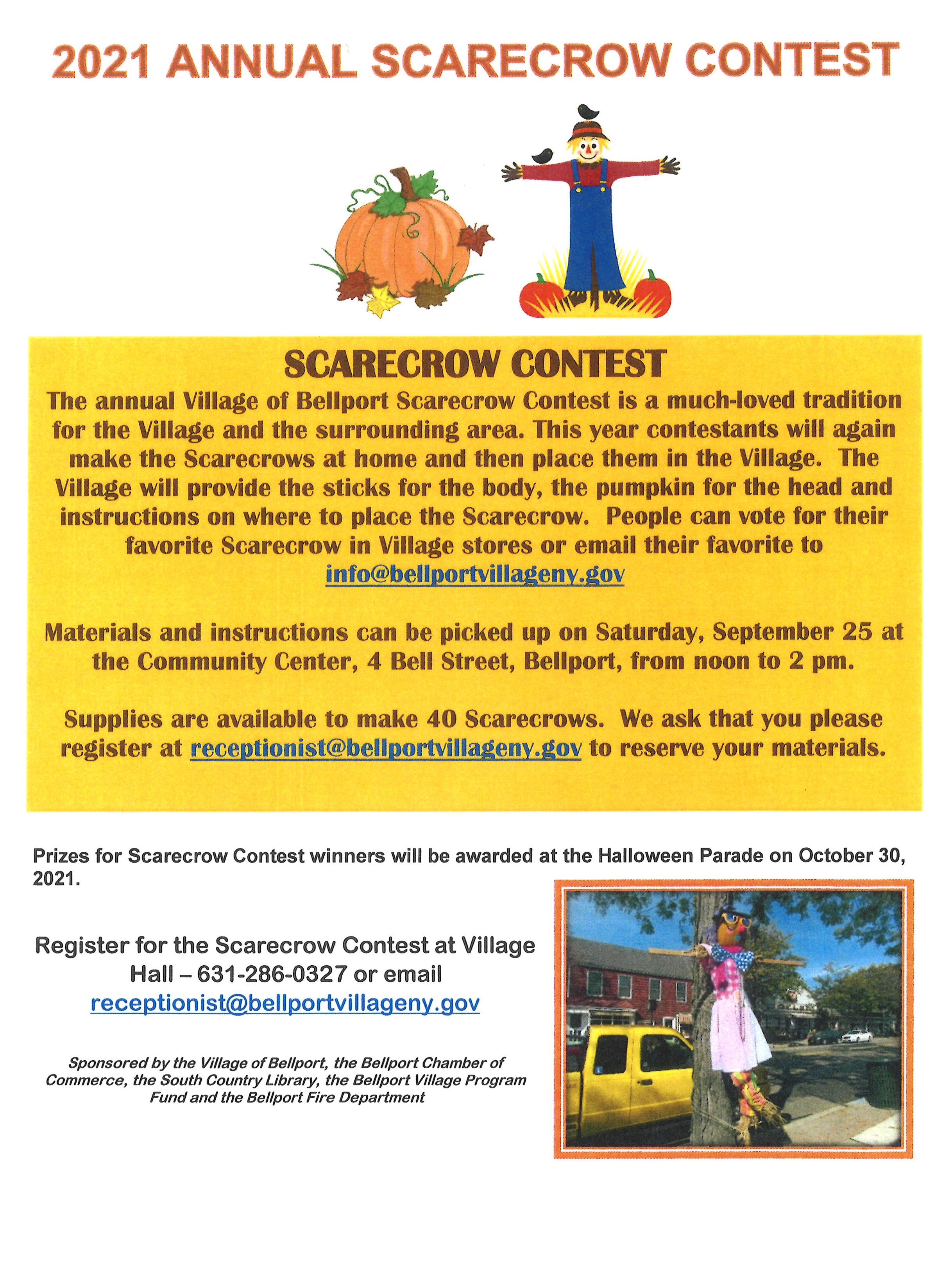 2021 Annual Scarecrow Contest