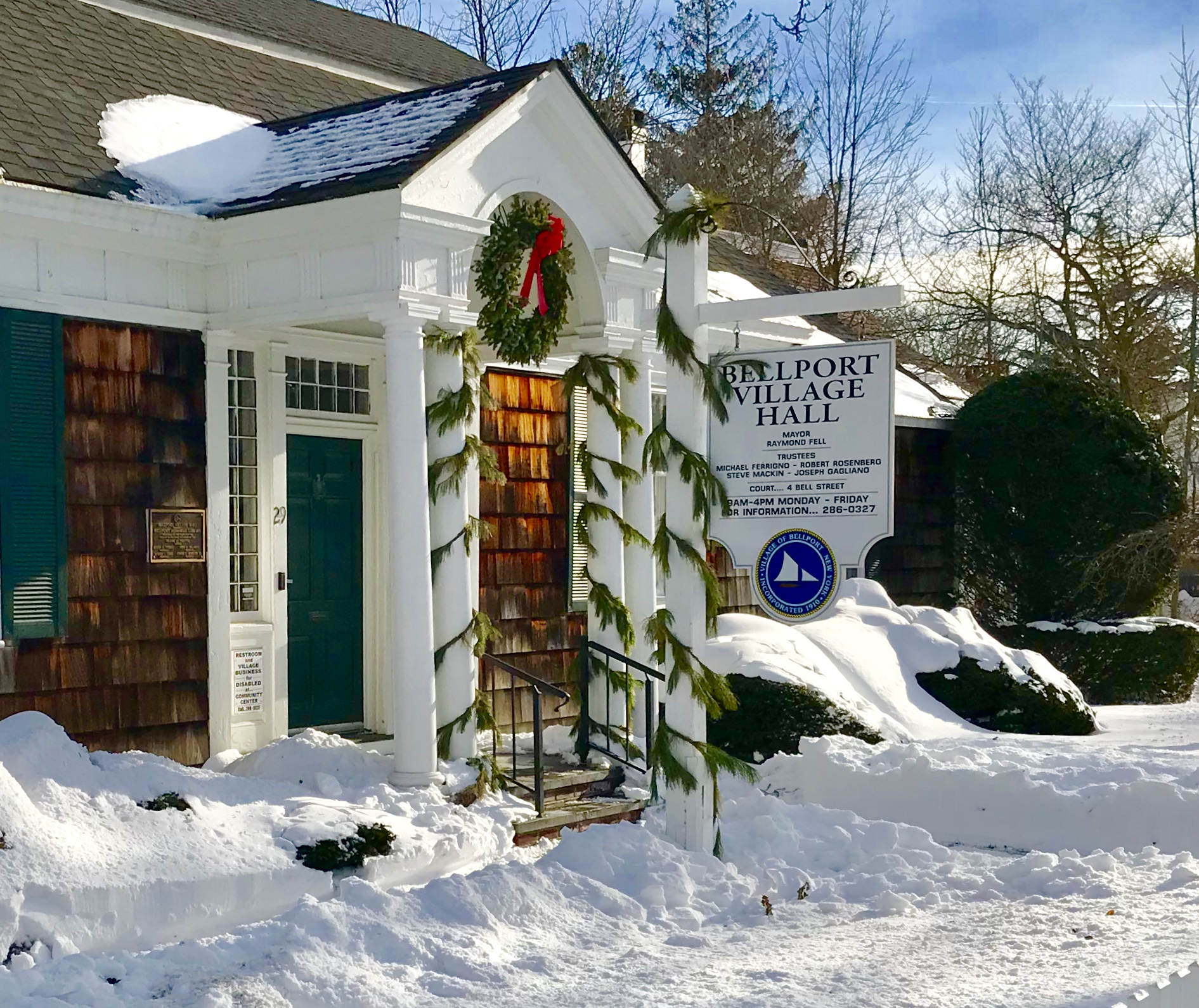 Planning Board Work Session - December 5, 2019 at 7:00 pm in Bellport Village Hall