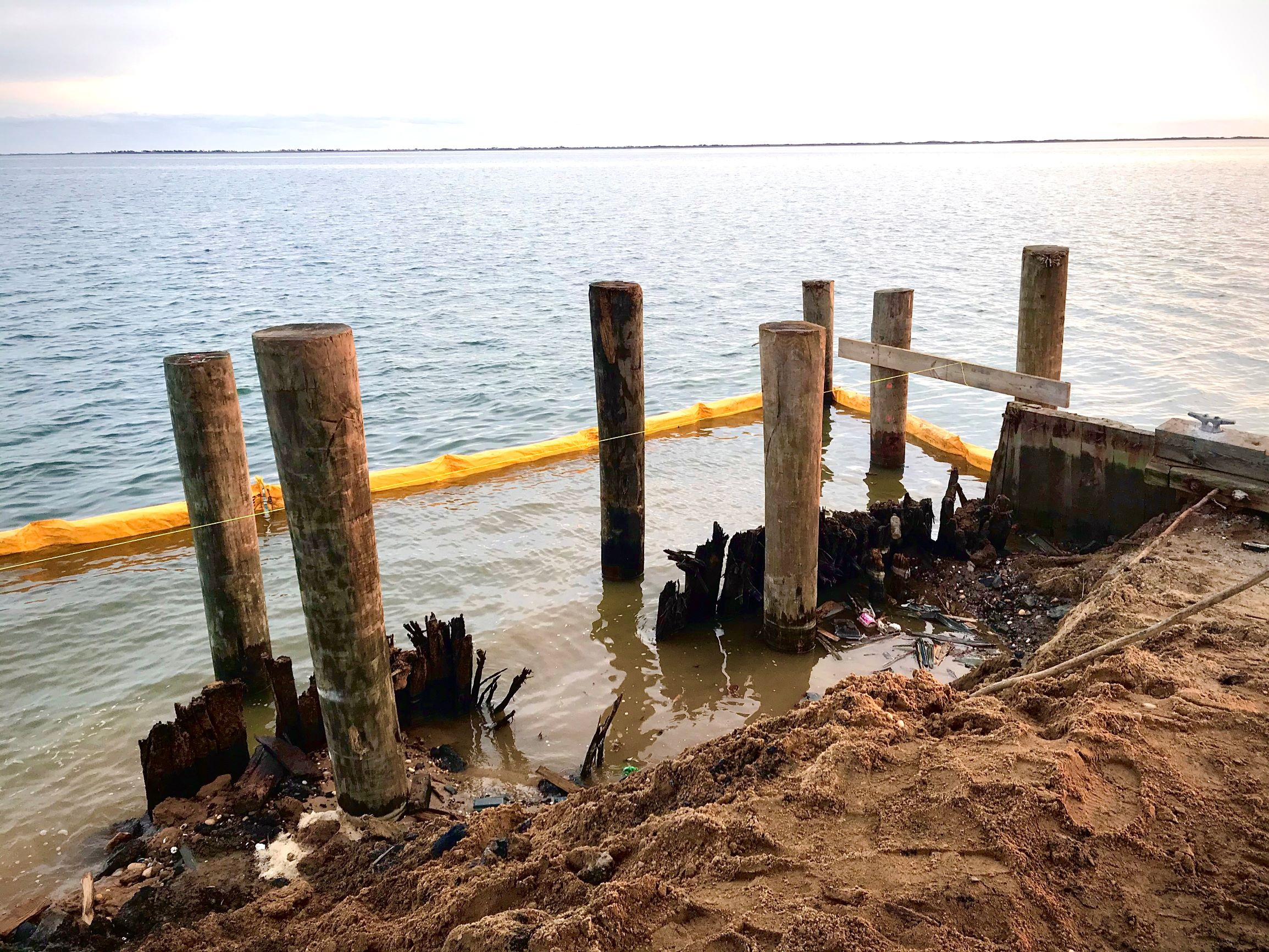 Bellport Dock Bulkhead Replacement Project - Progress as of January 30, 2020